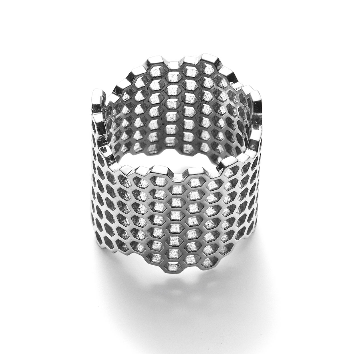 Jagged Honeycomb Ring
